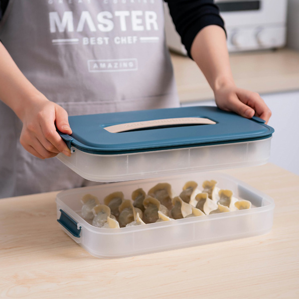 Pinmoo Dumpling Box可疊式手提水餃收納盒 (雙層連蓋)