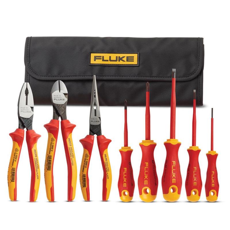 Fluke IKST7 Insulated 5 Screwdriver + 3 Plier Tools Starter Kit (59-52-3017) **香港限定**
