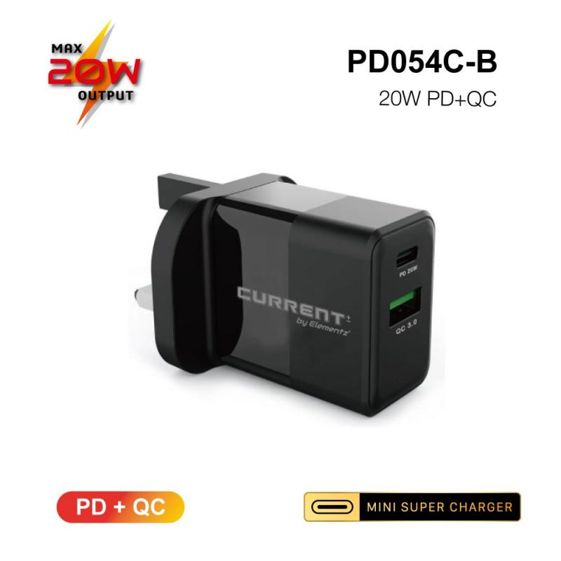 Elementz 2-PORT 20W PD+QC 超迷你充電器[PD-054C][2色]
