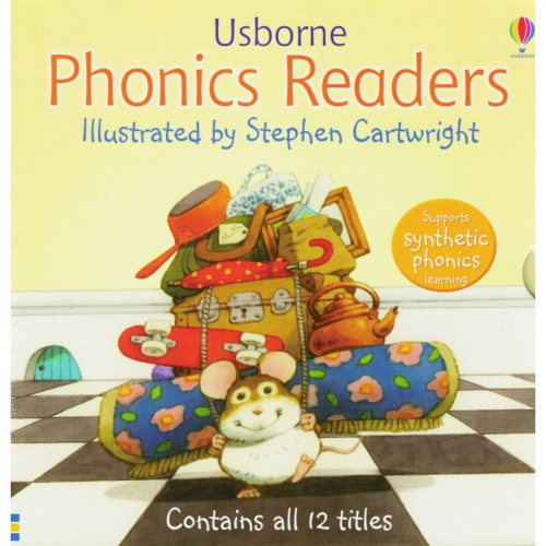 Usborne 英國頂級自然拼讀 斯伯恩 Phonics Readers 原版繪本 [12冊]