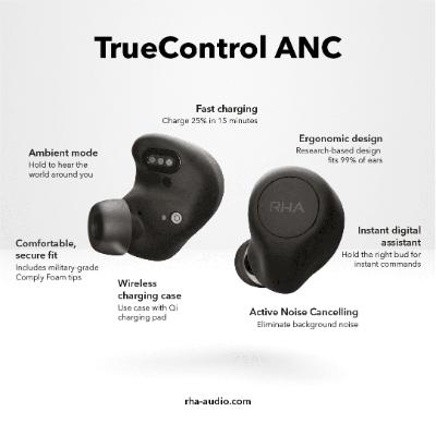 RHA True Control ANC 真無線藍牙耳機 香港行貨