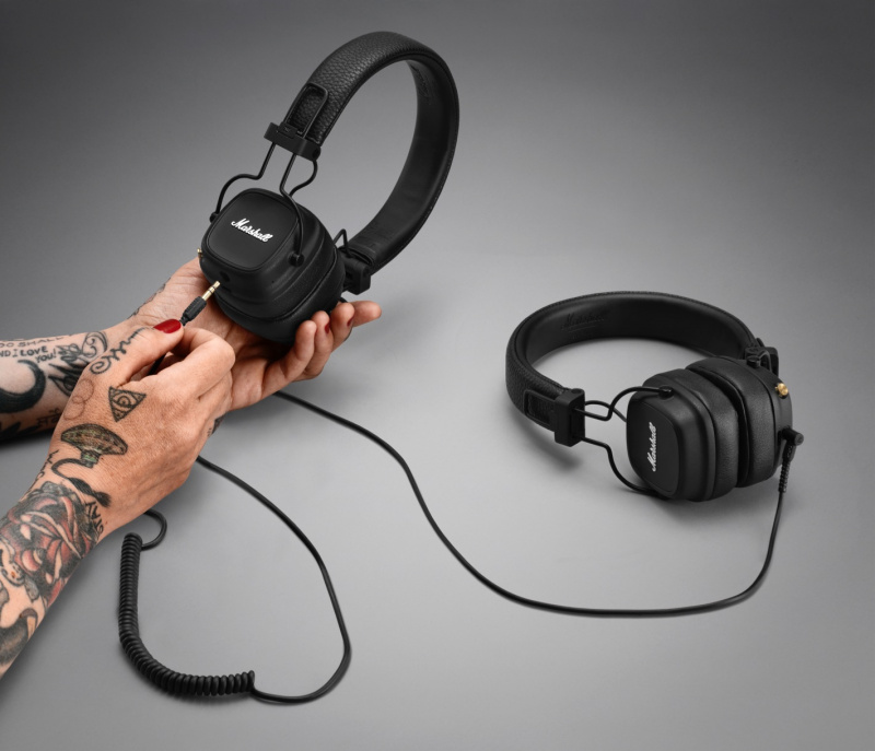 Marshall Major IV 頭戴式藍牙耳機 (送 iHome iBTW23 藍牙立體聲雙鬧鐘乙個)
