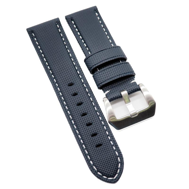 24mm Panerai Style 海軍藍碳纖維代用錶帶