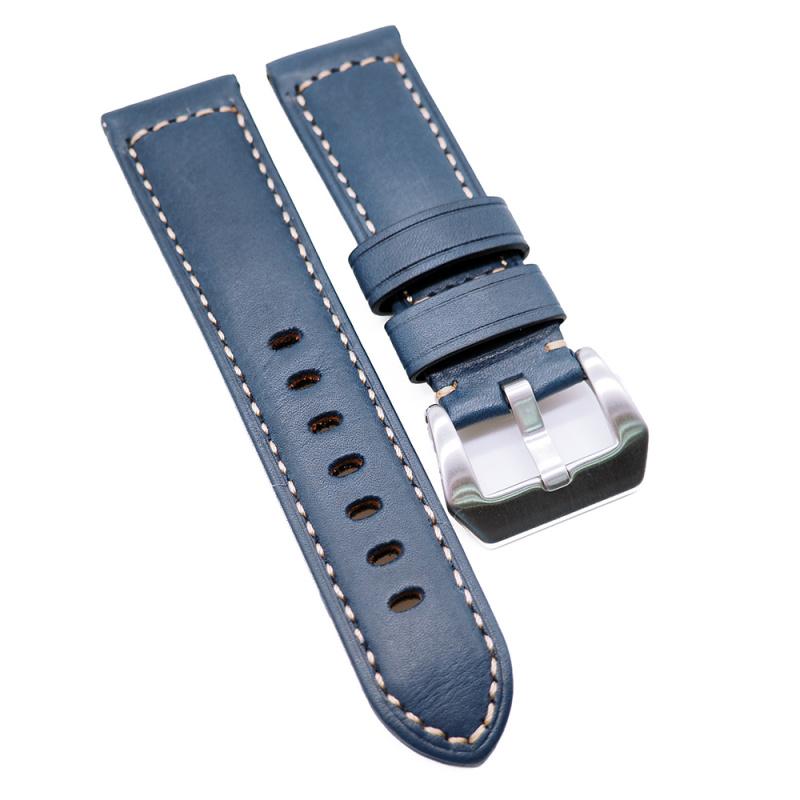 24mm Panerai Style 藍色牛皮代用錶帶