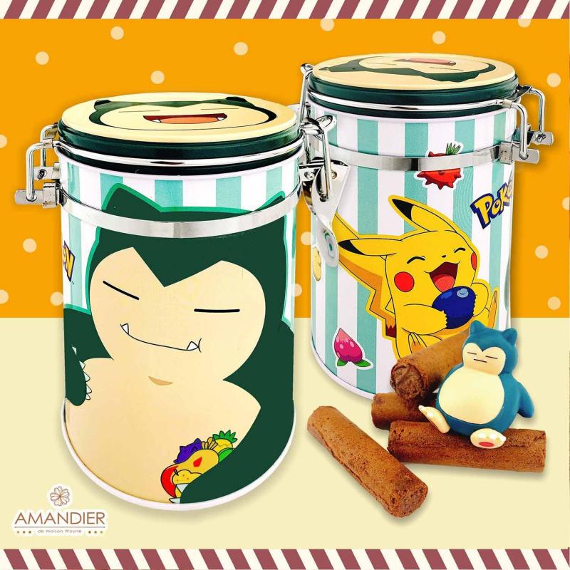 Pokémon 寵物小精靈 -捲心酥密封罐禮盒 [2味道][1盒2罐]