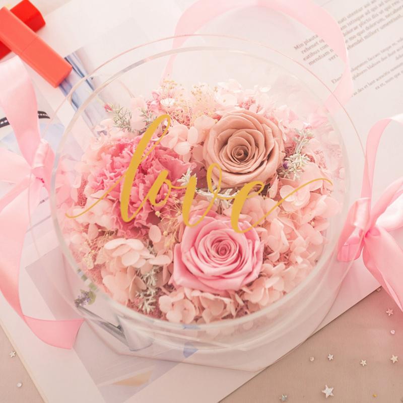 簡約玫瑰花盒(粉紅)