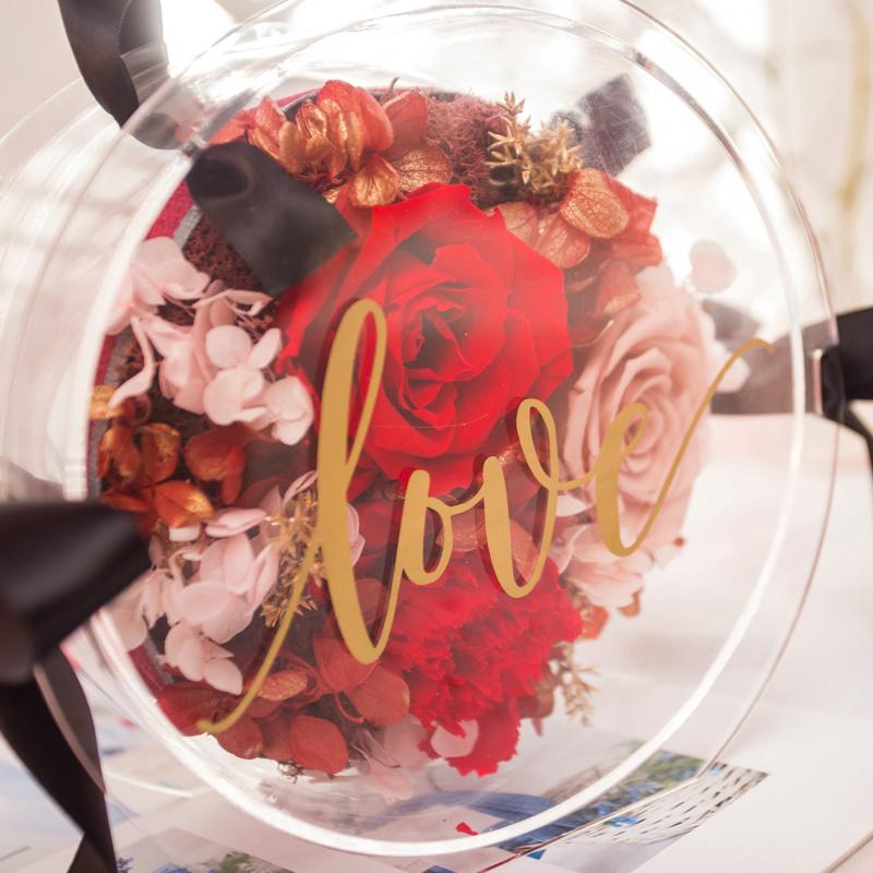 簡約玫瑰花盒(紅)