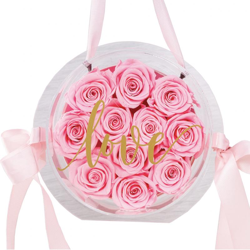 玫瑰花盒(粉紅)