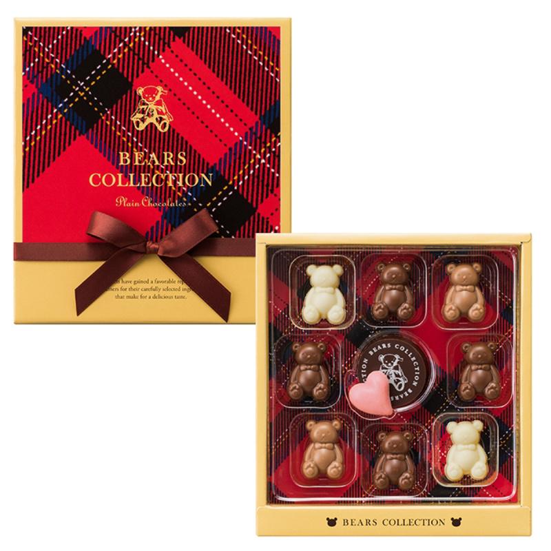 日本Mary's Bear Collection 趣緻熊仔雜錦朱古力方形禮盒 (1盒10粒)【市集世界 - 日本市集】