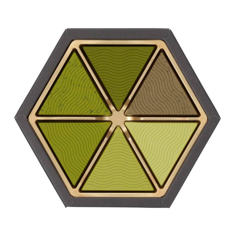 日本Mary's《奏》典雅華麗 6款日本茶 朱古力六角形禮盒 (1盒12塊)【市集世界 - 日本市集】