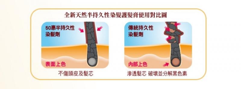 50惠 [日本進口版] 天然海藻染髮護髮膏 (自然黑色)