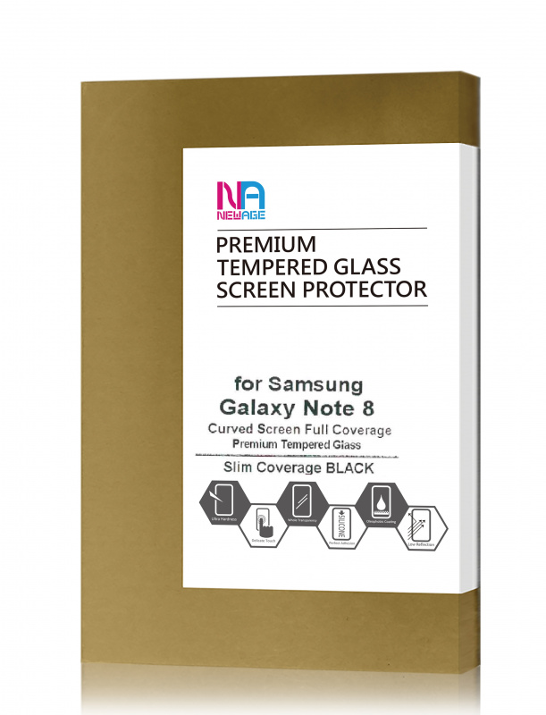 NEWAGE Premium Tempered 3D Curved Glass Screen Protector Slim ver For Samsung Galaxy Note 8