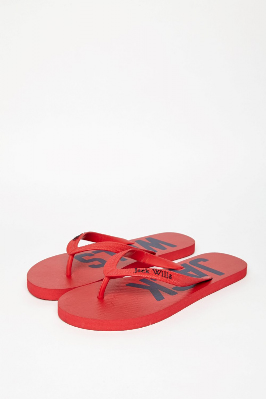 Jack Wills 男裝紅色拖鞋款(藍字款) UK SIZE 9