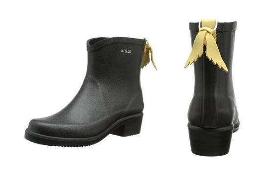 AIGLE Miss Juliette Bottillon 雨靴 - 黑色 Size EU-36