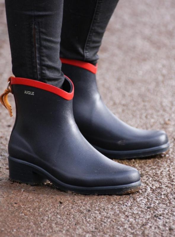 AIGLE Miss Juliette Bottillon 雨靴 - 紅色 Size EU-36