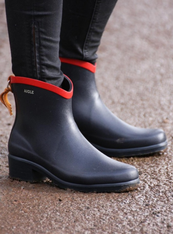 AIGLE Miss Juliette Bottillon 雨靴 - 紅色 Size EU-38