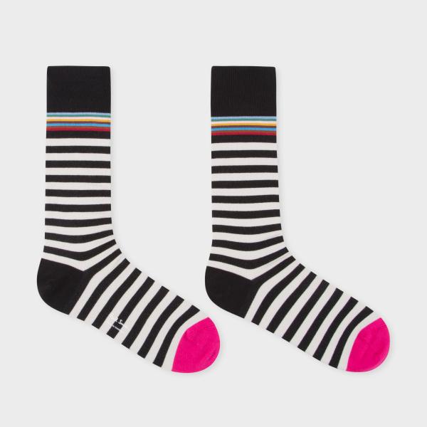 Paul Smith 男裝黑白間條襪