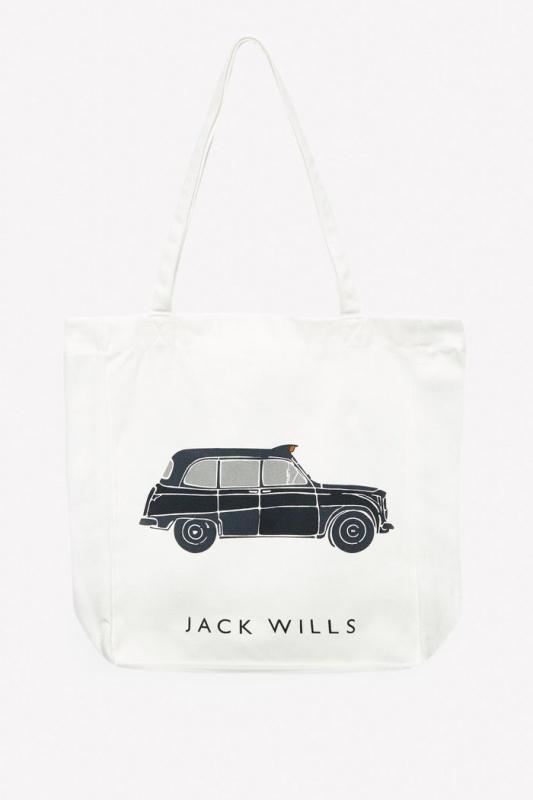 Jack Wills 經典帆布布袋款 - 的士圖案