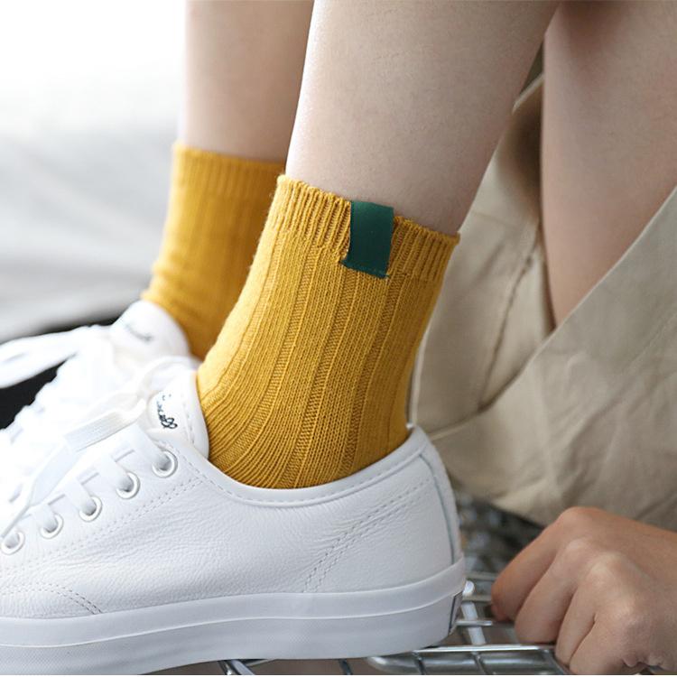 I Love Socks 日系休閒風素色短襪 - 灰色 2對