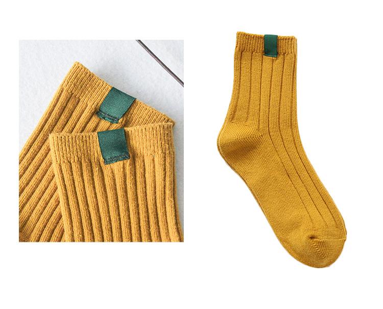 I Love Socks 日系休閒風素色短襪 - 彩色 1套5對