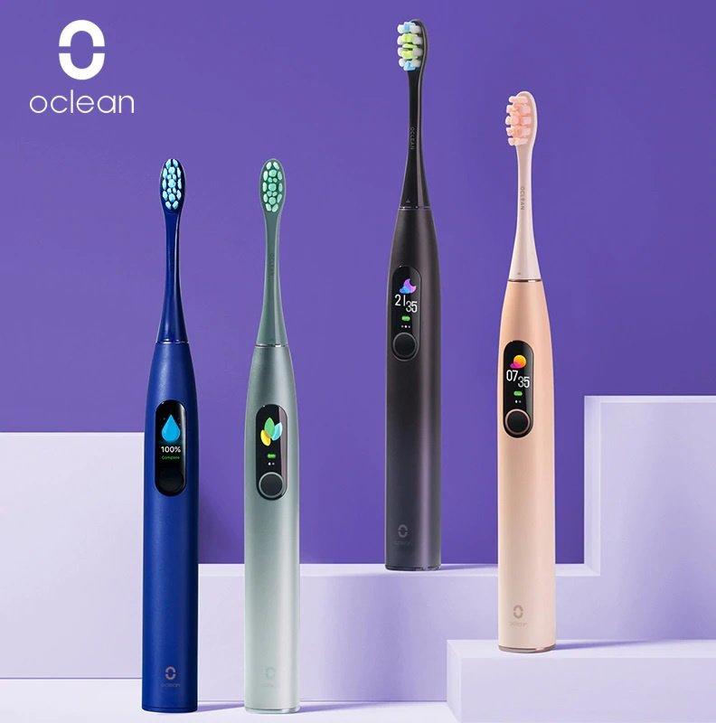Oclean X Pro 智能彩色觸控螢幕音波電動牙刷 [4色] [香港行貨]