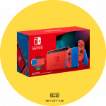 Nintendo Switch 瑪利歐亮麗紅X亮麗藍主機組合
