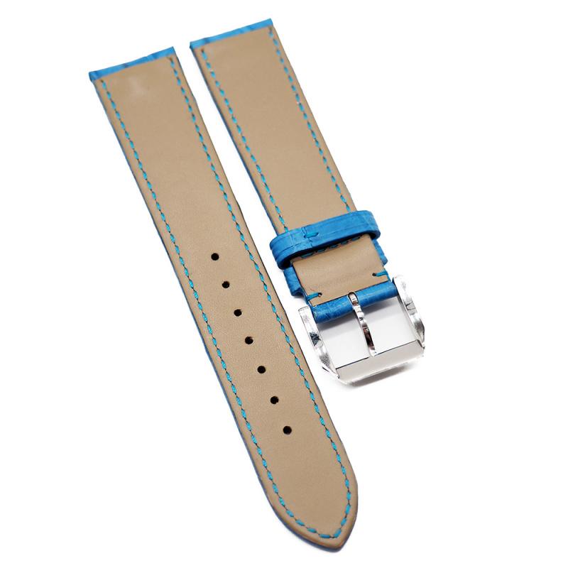20mm 鈷藍色優質鱷魚皮錶帶