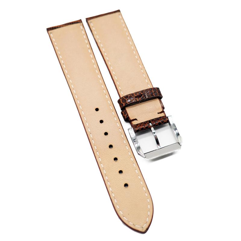 20mm 啡色優質蜥蜴皮錶帶