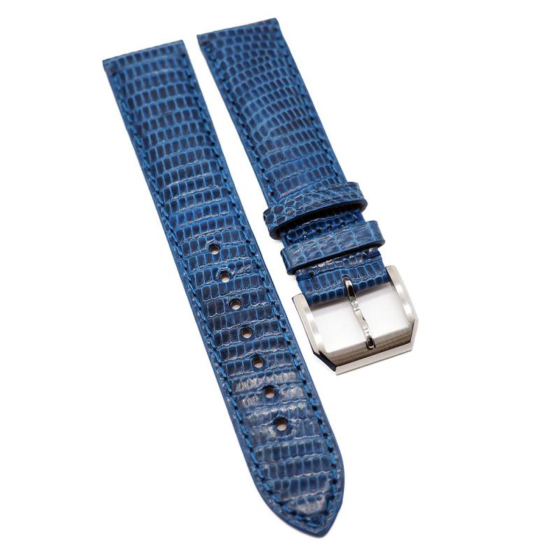 20mm 藍色優質蜥蜴皮錶帶