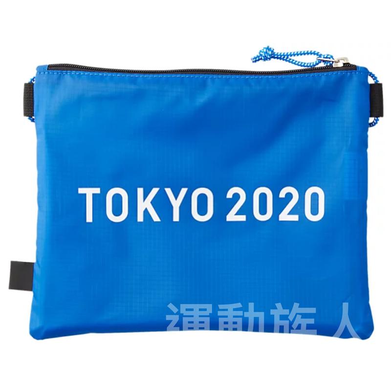 【💥Tokyo 2020 日本奧運】Asics 奧運 會徽 紀念斜孭袋腰袋 日本直送 藍色