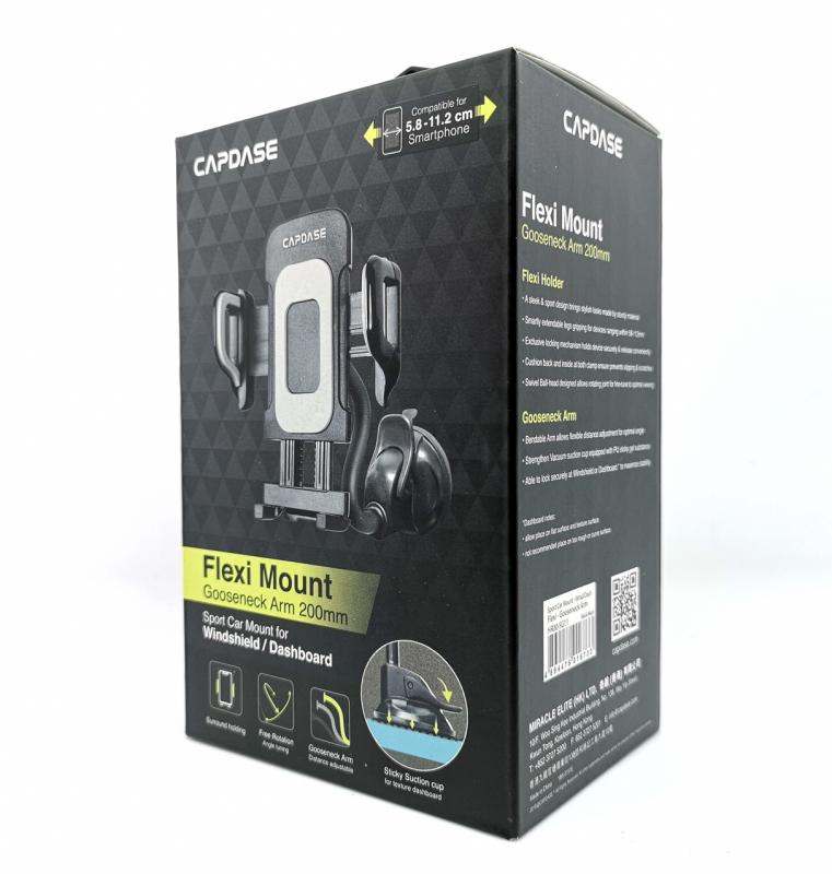 Capdase Sport Car Mount - Wind Dash -FLEXI II - GOOSENECK ARM HR00-SGF211