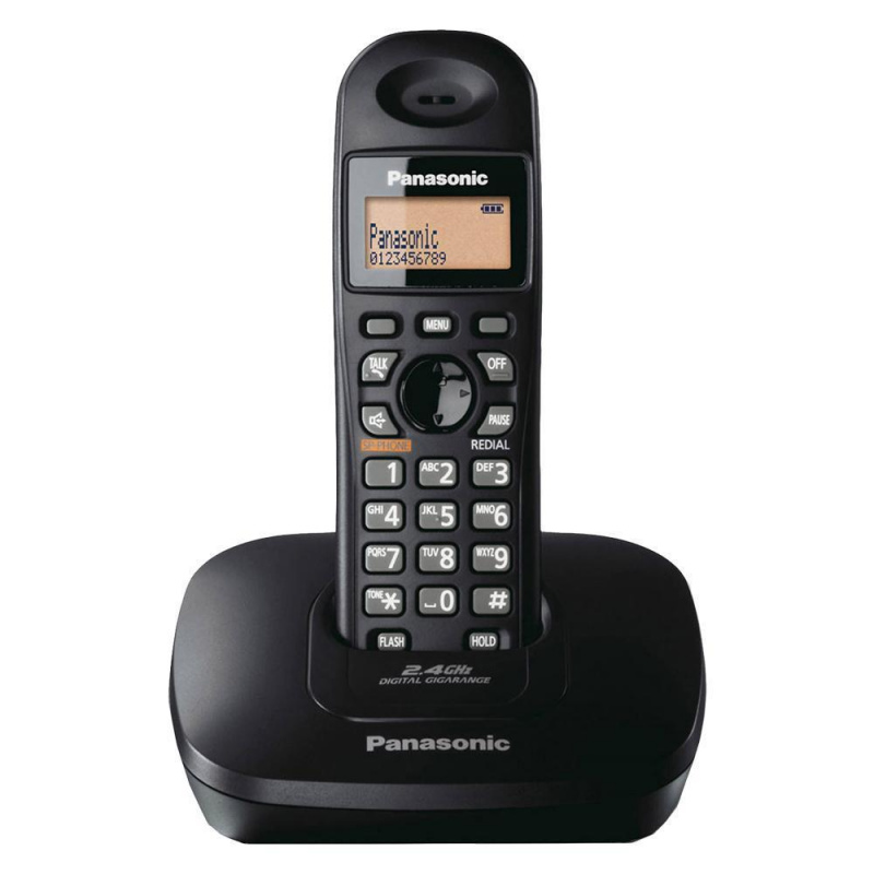 Panasonic 樂聲牌 - KX-TG3611 黑色 高頻 DECT 2.4 GHz 室內無線電話 KX-TG3611BXB (平行進口)