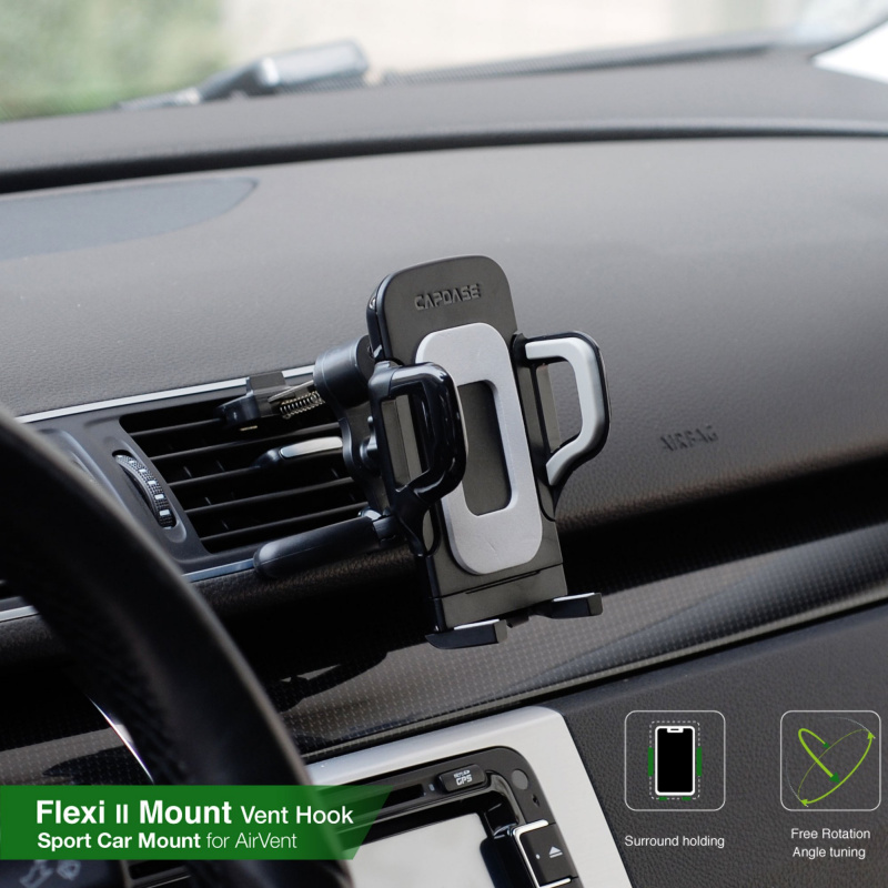 Capdase Sport Car Mount - Air Vent - Flexi II-Vent Hook-76 - HR00-SVF211-76