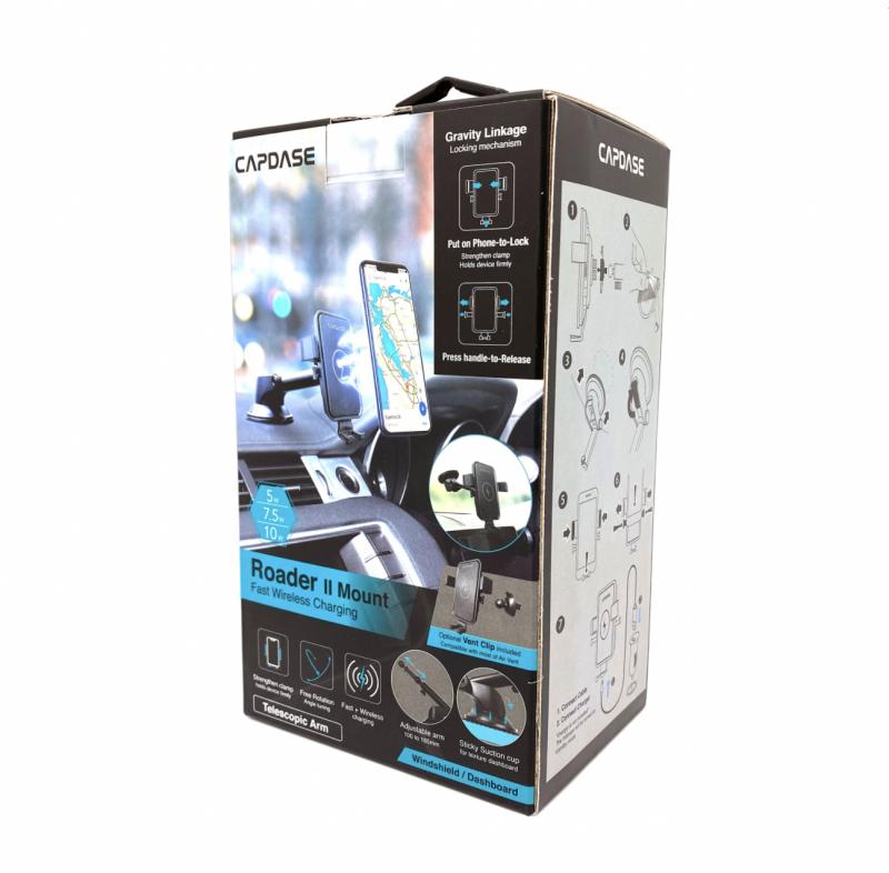 Capdase Wireless Charging Mount - Roader II 15W - Telescopic Arm - HR00-R215WT11