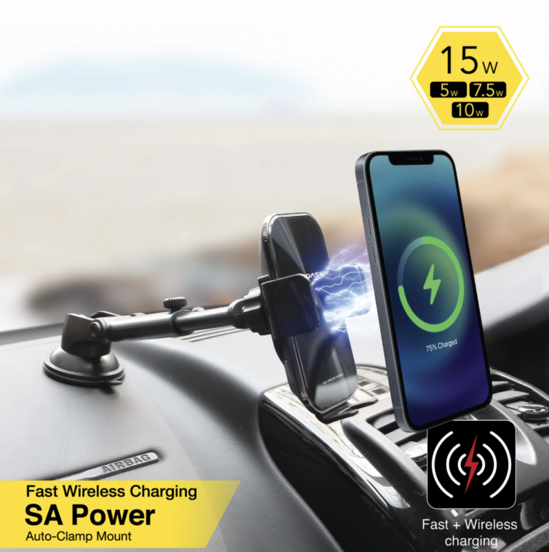 Capdase SA Power Fast Wireless Charging Auto-Clamp Car Mount Telescopic Arm HR00-SOUNDT01