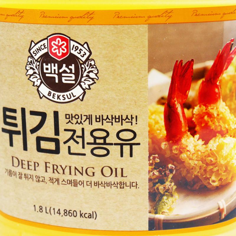 韓版CJ Beksul 食油 天婦羅專用炸油 1.8L【市集世界 - 韓國市集】