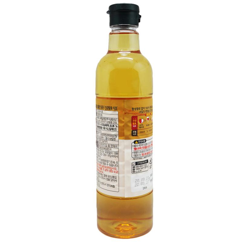 韓版CJ Beksul 健康醋 100%天然發酵蘋果醋800ml【市集世界 - 韓國市集】