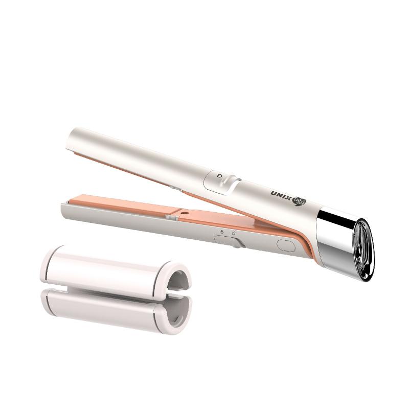UNIX USB插電迷你兩用直髮器 - 白色(送USB線)
