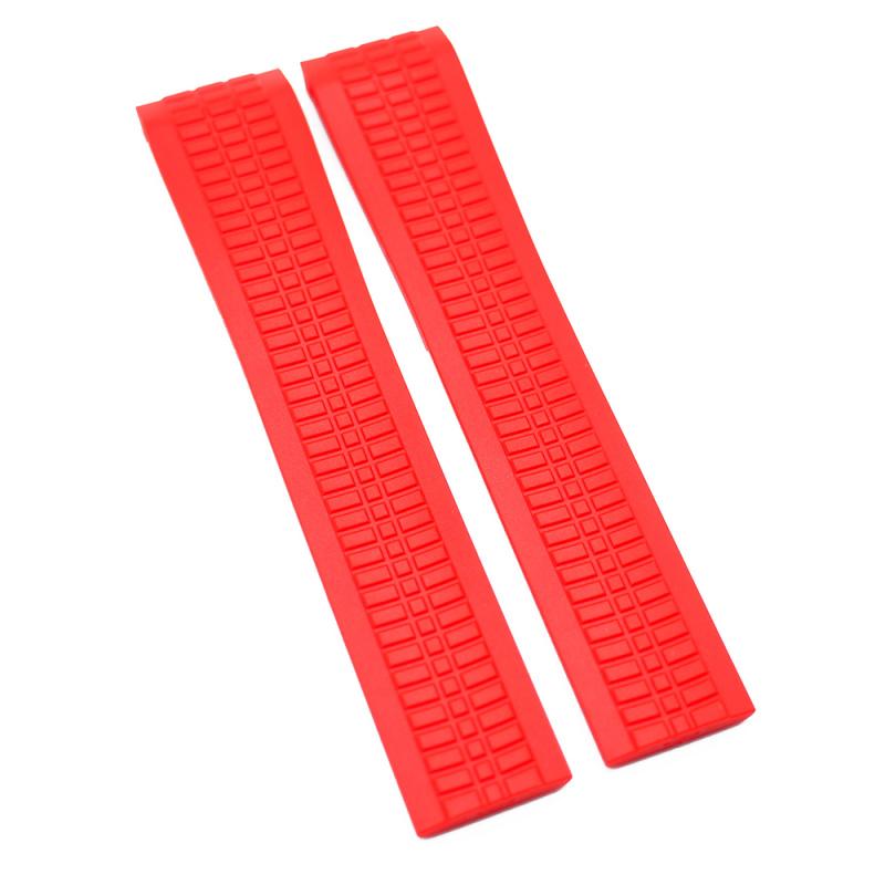 21mm 紅色 Patek Philippe 優質代用橡膠錶帶 合適 PP Aquanaut 5167