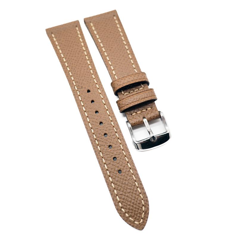 20mm 黃褐色 Epsom 掌紋牛皮錶帶