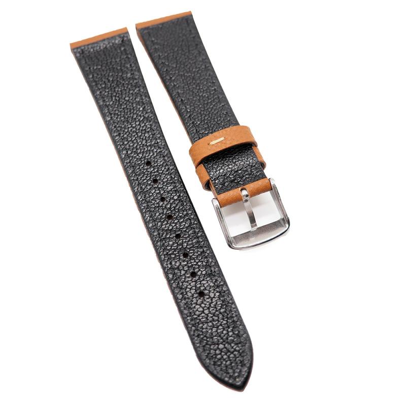 20mm 金茶色 Epsom 掌紋牛皮錶帶