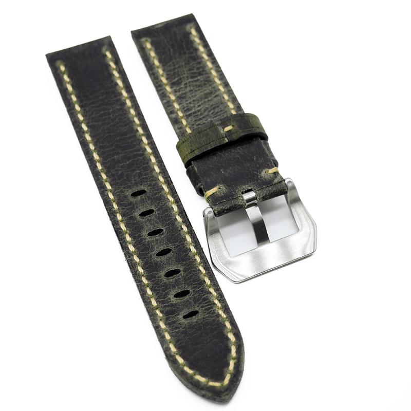 22mm 灰黑色意大利牛皮錶帶