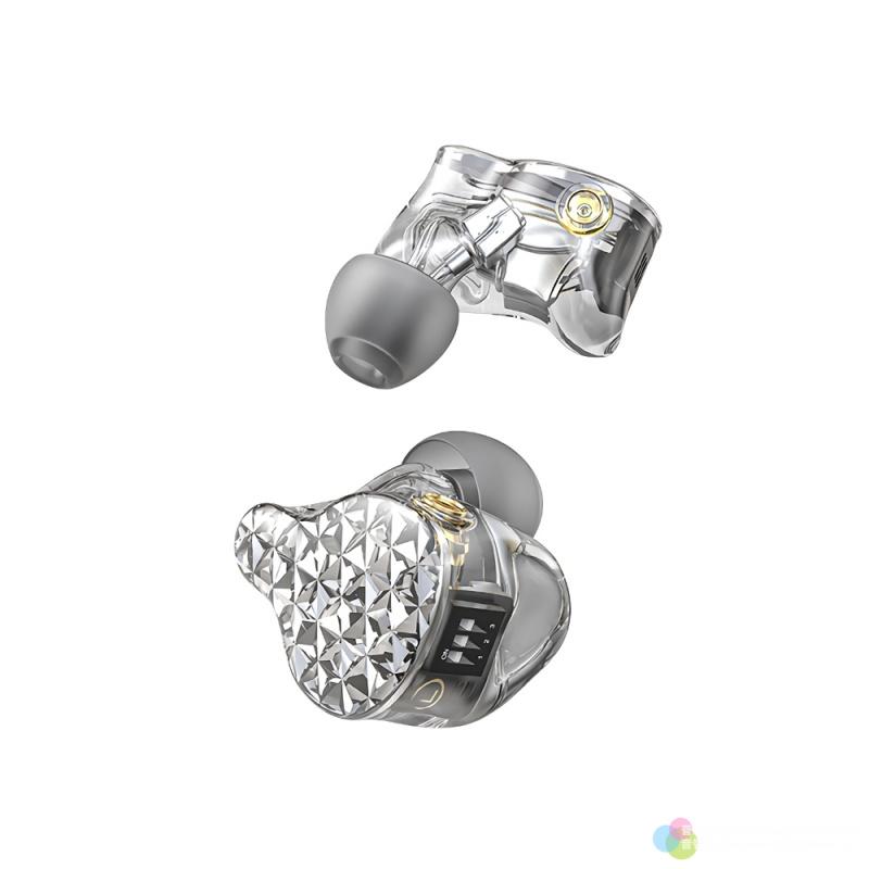 《香港行貨》FiiO - 樓氏六單元動鐵MMCX單晶銅鍍銀可換線耳機 FA9 - 晶瑩透