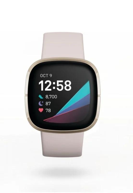 Fitbit - SENSE 進階健康智慧手錶 (碳黑色/月光白)