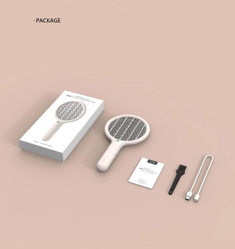 LED便攜式迷你USB電蚊拍驅蚊器 [白色]