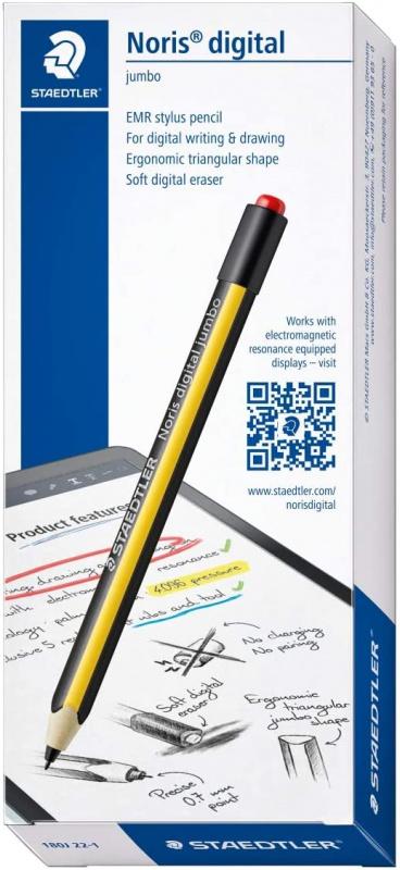 【繪畫No.1】Staedtler施德樓Noris Jumbo EMR 電磁筆(帶軟數字橡皮擦)