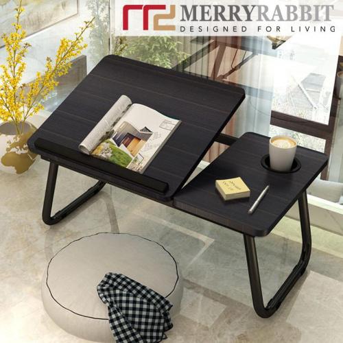 MerryRabbit - 可摺叠式床上平板電腦桌 MR-A1-2 (黑色/白色)