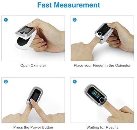 🇺🇸美國直送🇺🇸 mibest OLED Finger Pulse Oximeter, O2 Meter 血氧脈搏測量儀 (肺炎自測神器)