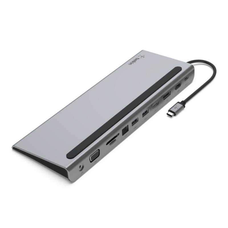 Belkin CONNECT™ USB-C 11 合 1 多埠擴充座[INC004btSGY]