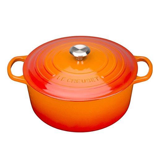 Le Creuset 圓形鑄鐵鍋 24cm 橙色